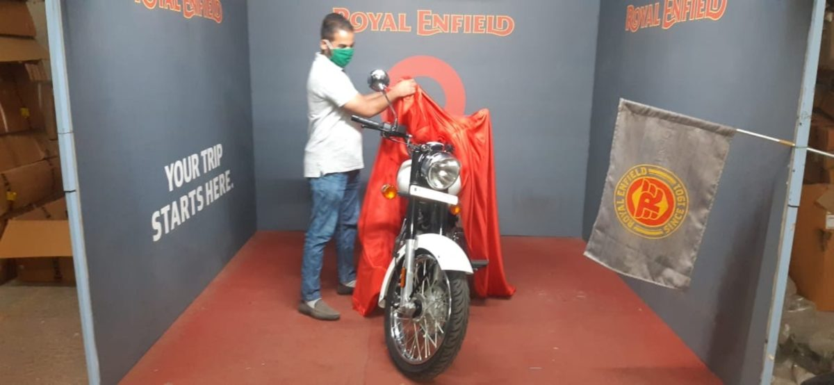 Royal Enfield motorcycle delivery
