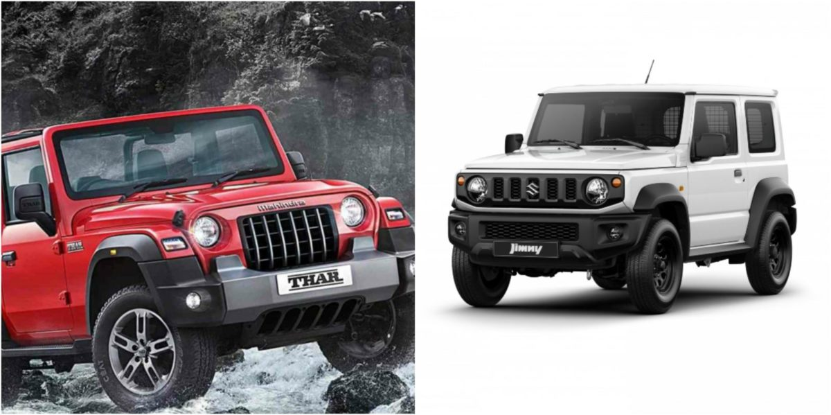 comparison thar vs maruti jimny