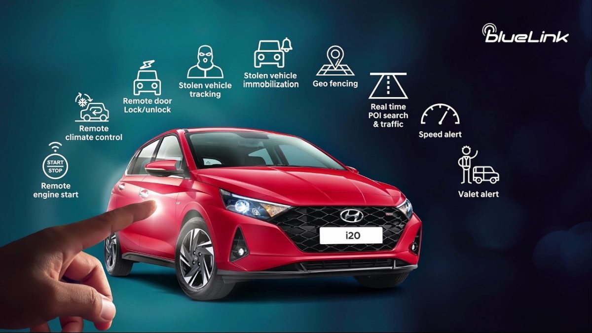 All new Hyundai i20 blue link features