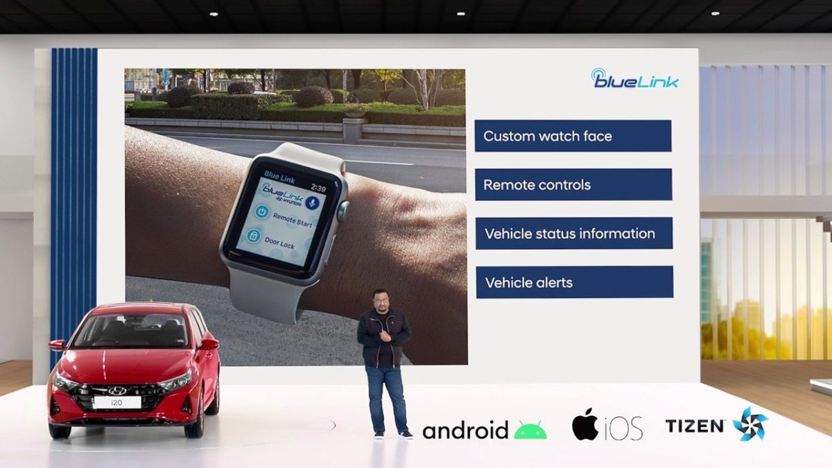 All new Hyundai i20 smartwatch connect