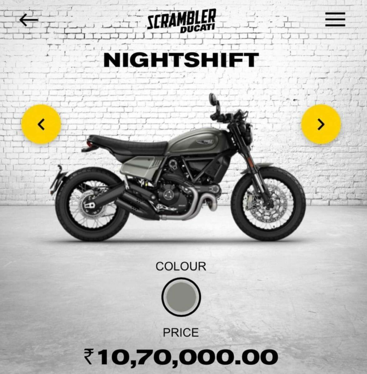 Ducati Scrambler 800 price
