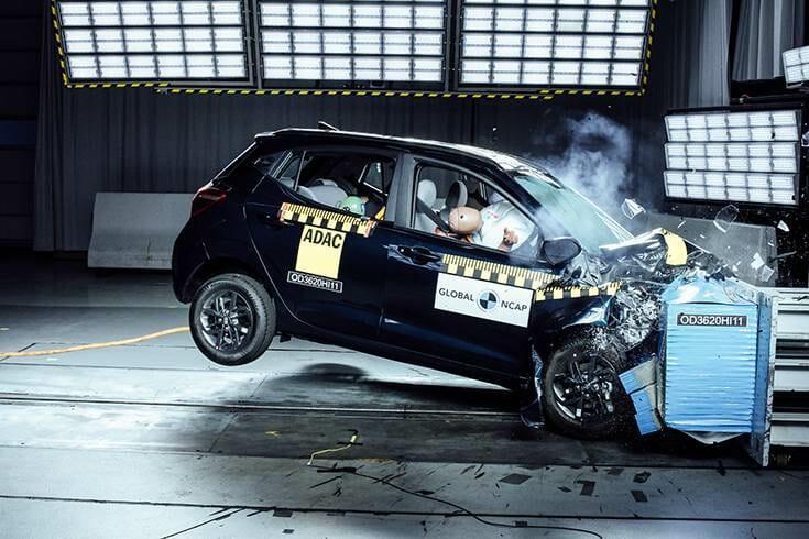 Hyundai i10 grand Nios Ncap test