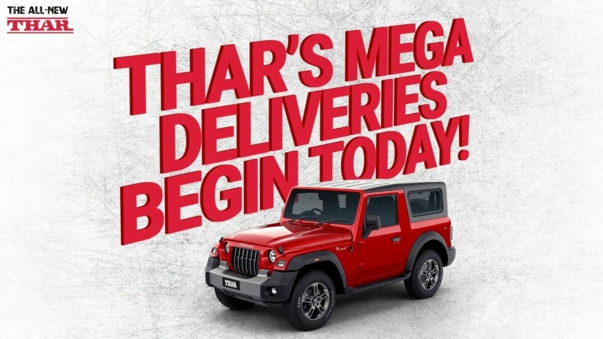 New mahindra Thar delivery