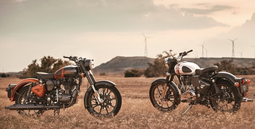 Royal Enfield Classic 350 Orange and Silver