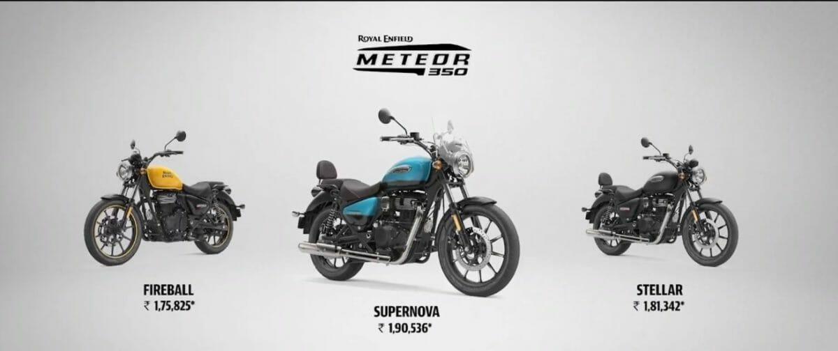 Royal Enfield Meteor 350 price