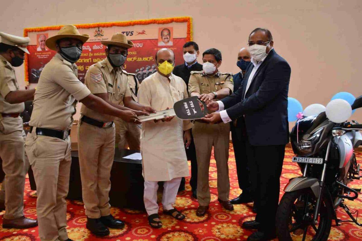 TVS bangalore city police (1)