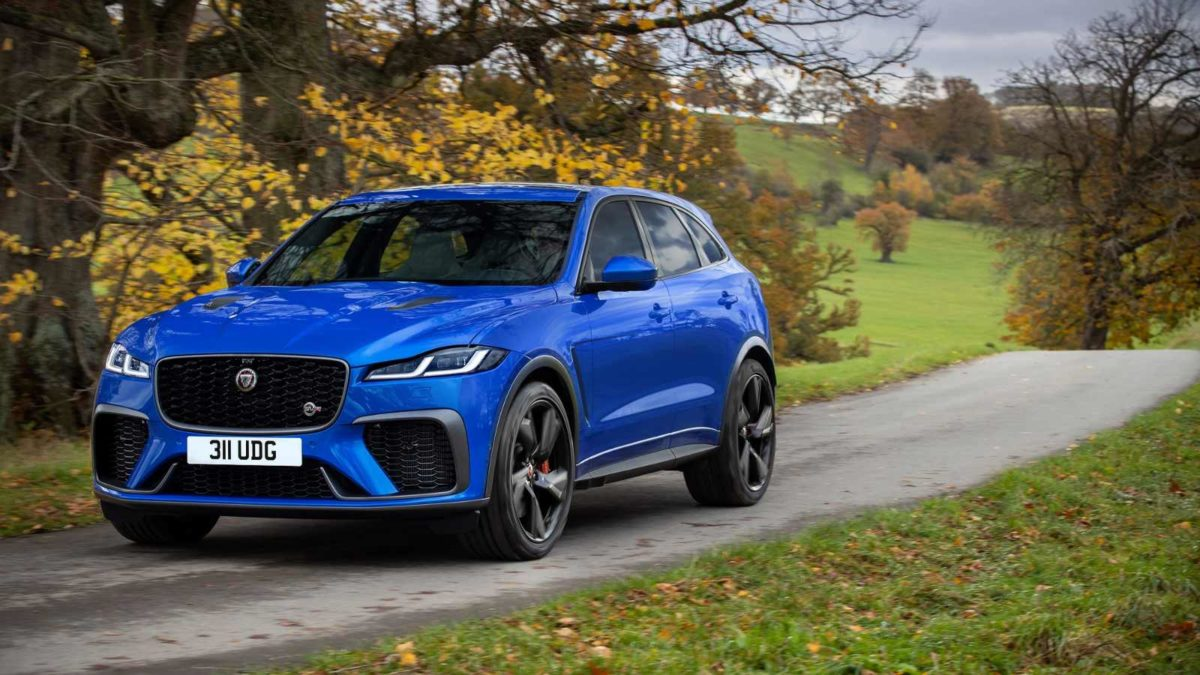 2021 Jaguar f pace SVR front