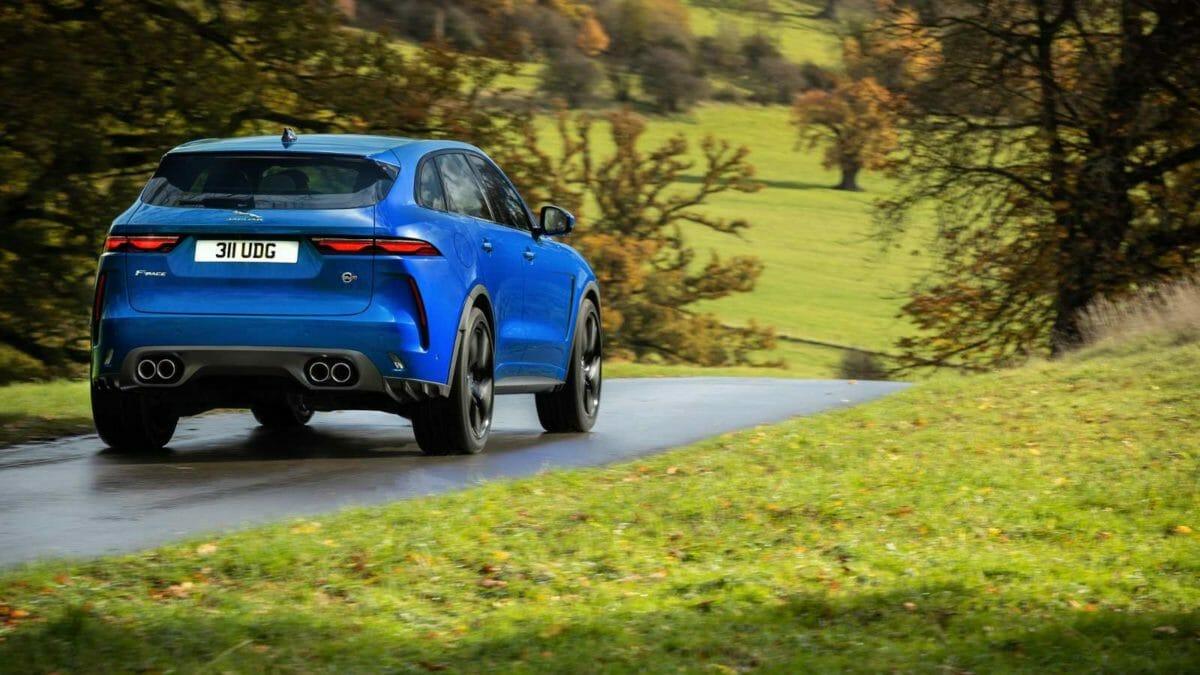 2021 jaguar f pace rear