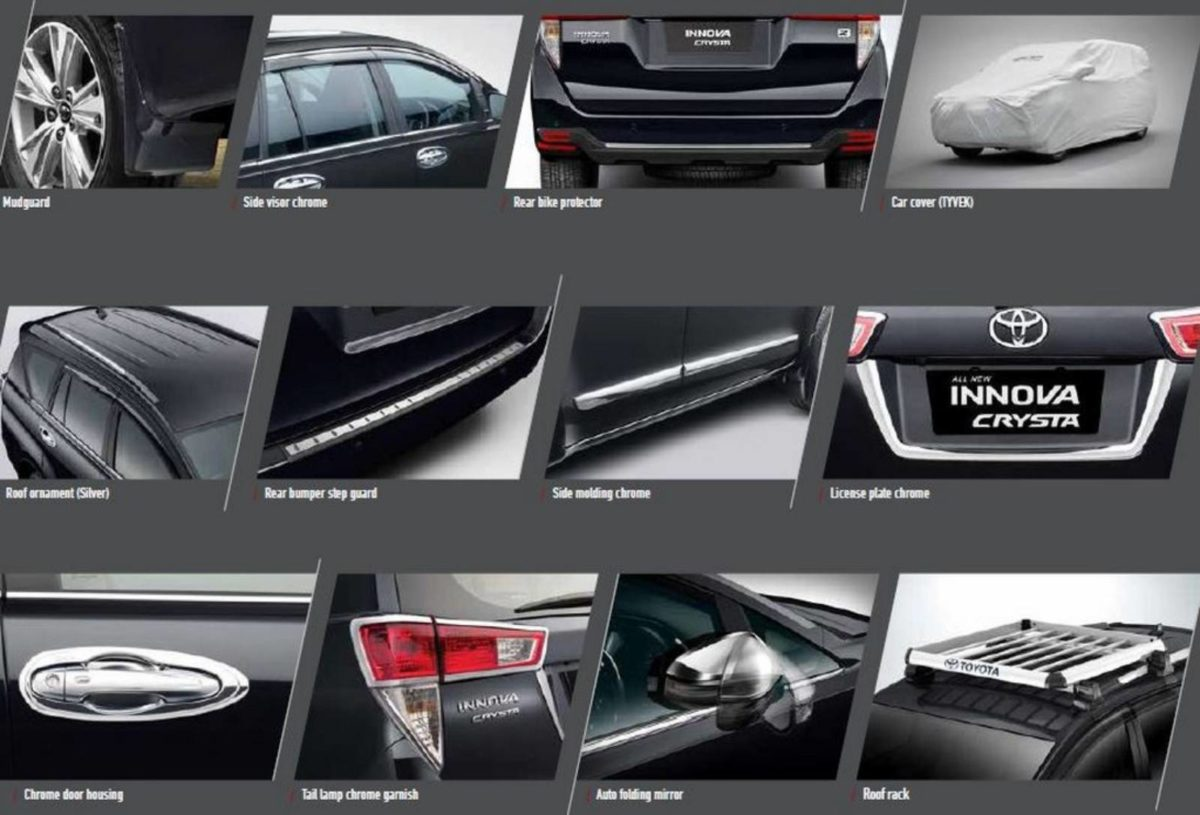 Accessories Toyota Innova Crysta facelift (1)