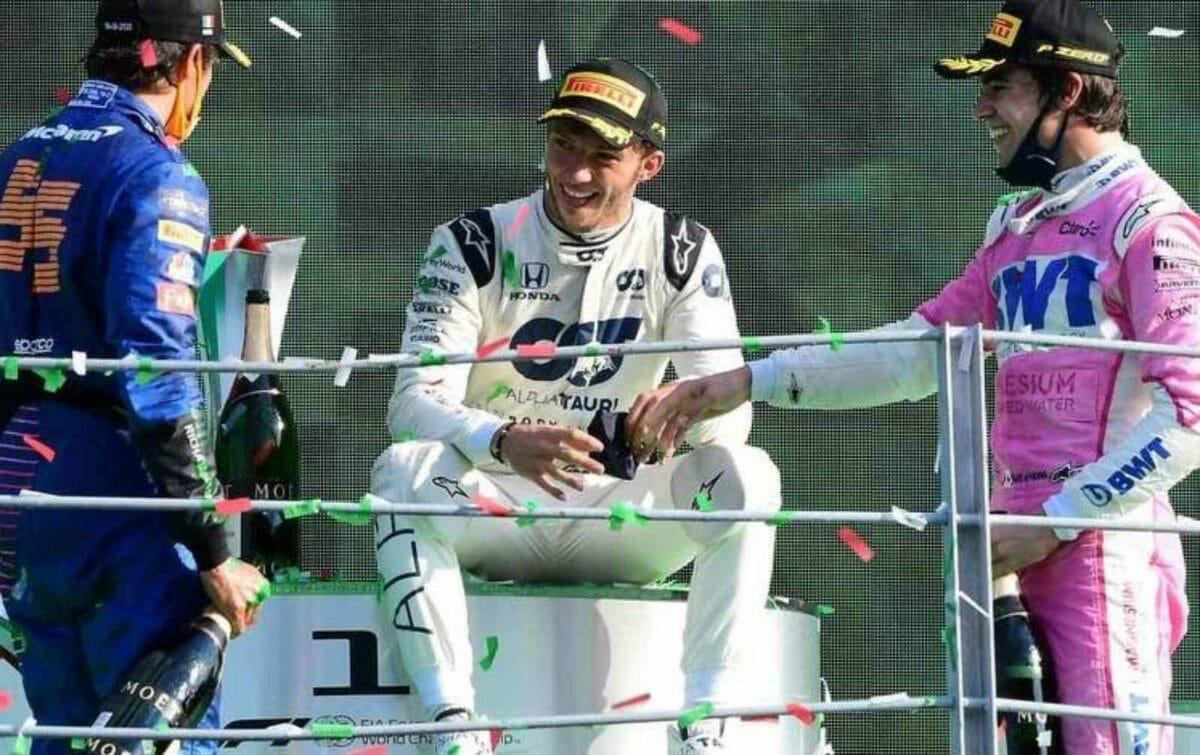Italian Grand prix 2020 podium