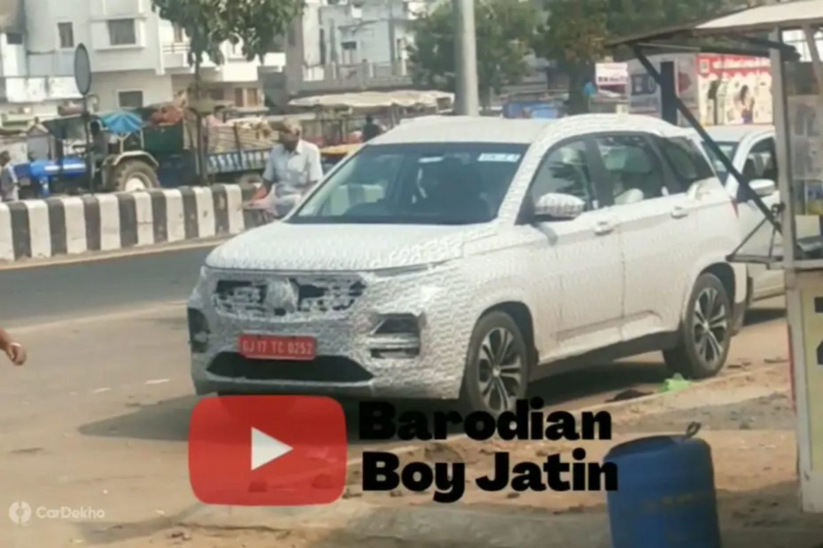 MG Hector facelift spied again (2)
