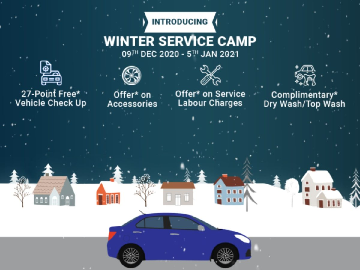 Maruti Suzuki winter service camp