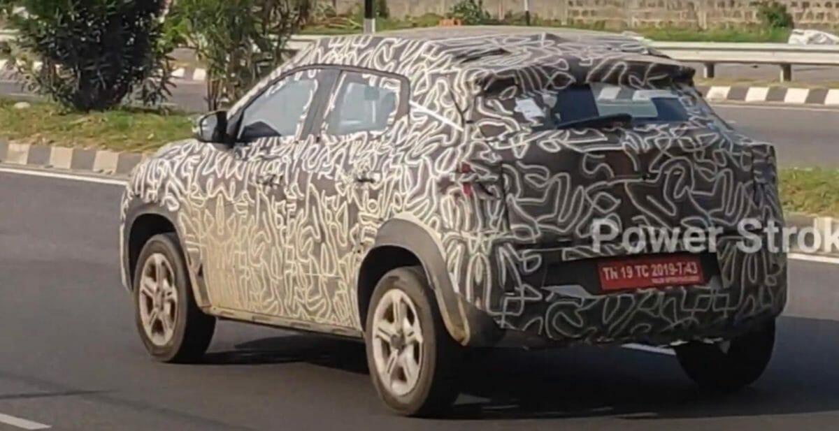 Renault Kiger spied again (1)