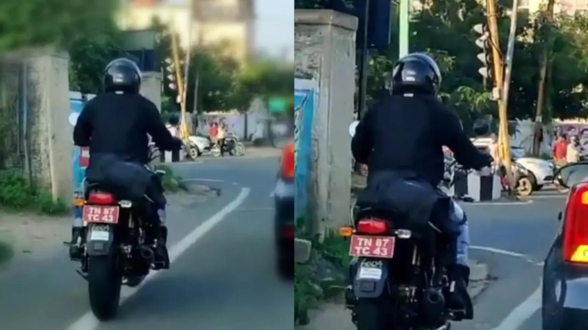 Royal Enfield Interceptor 350 spied