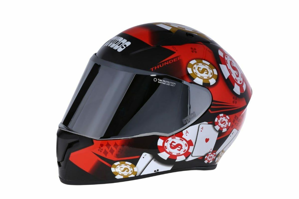Studds thunder D6 helmet