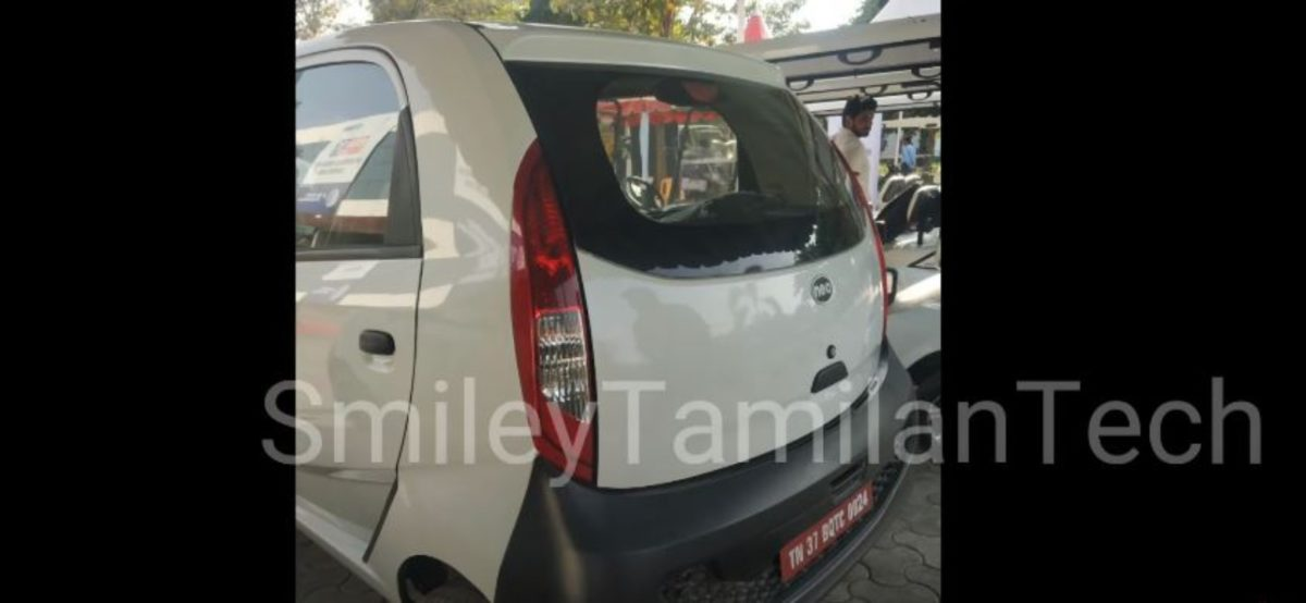 Tata Nano EV rear look