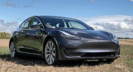 Tesla model 3 front end