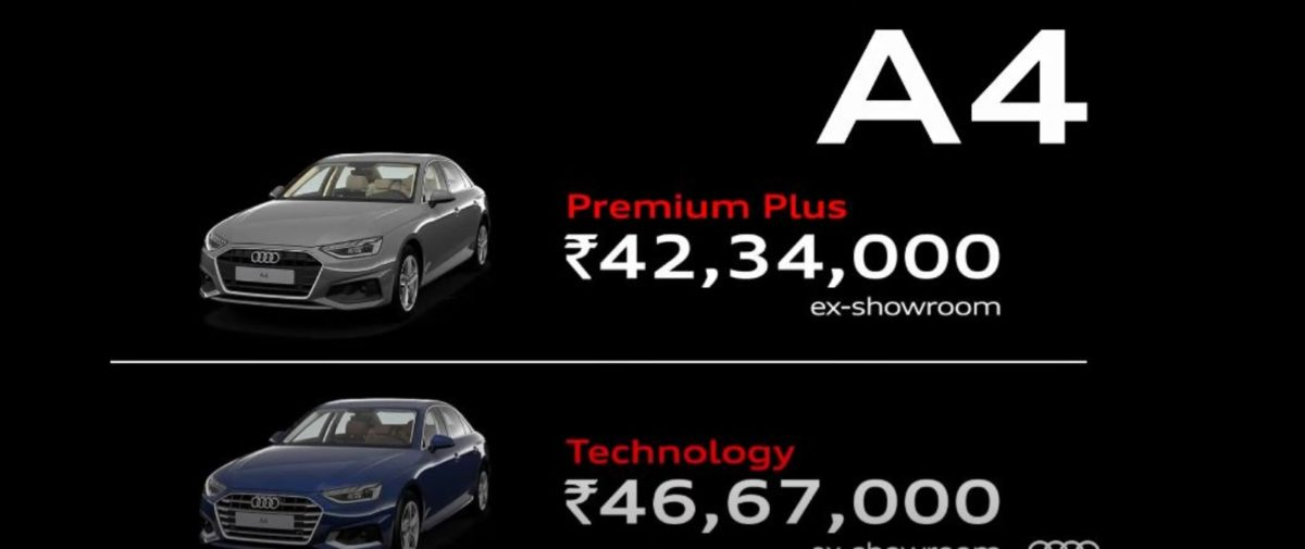 Audi A4 official pricing