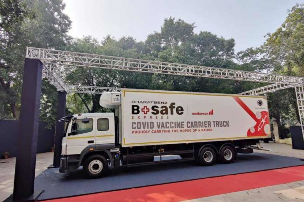 Bharatbenz bsafe covid truck