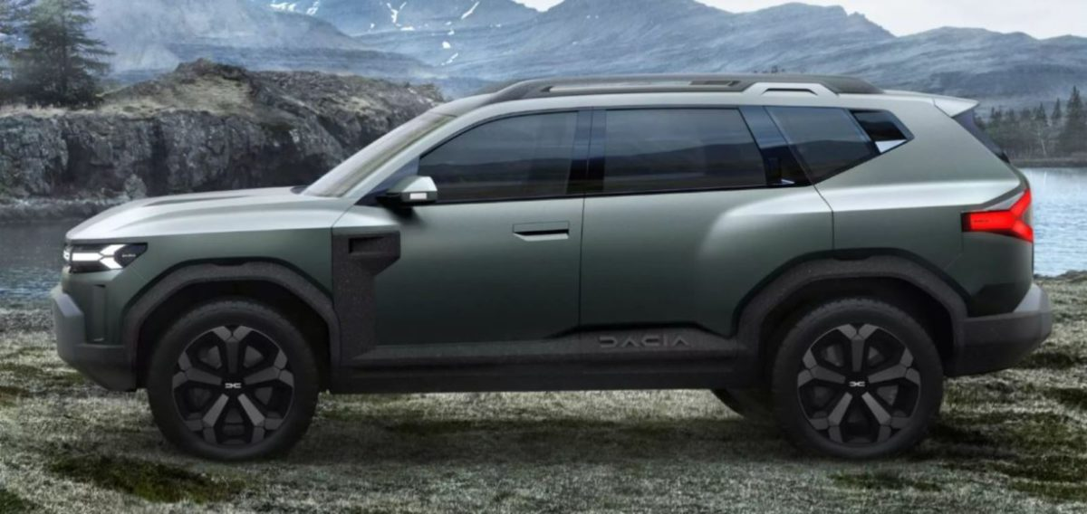 Dacia Bigster concept side look