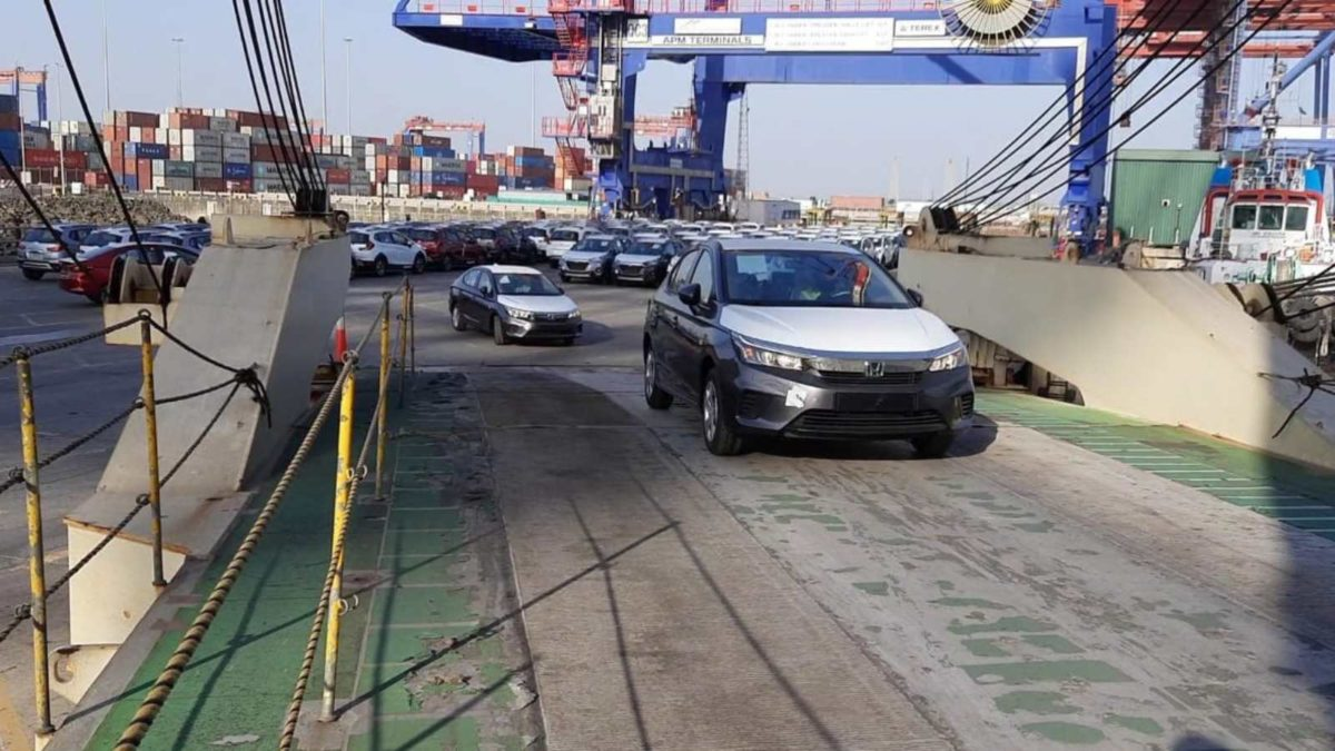 Export of Honda City to Left Hand Drive countries from India 1 (1)