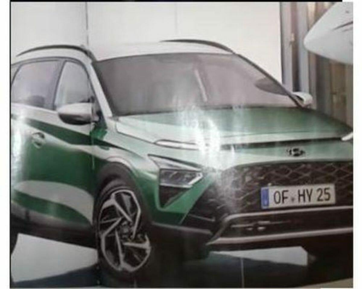 Hyundai bayon suv leaked