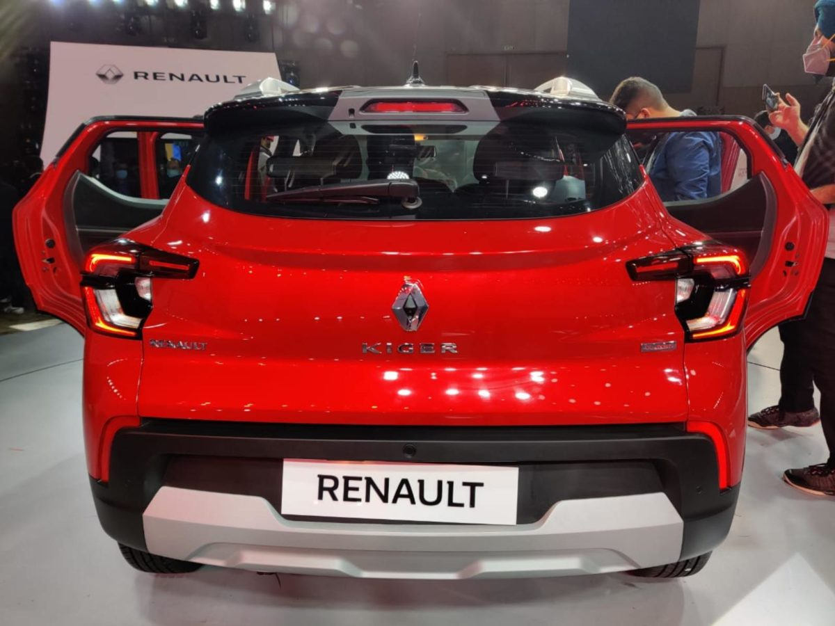 Renault Kiger rear look