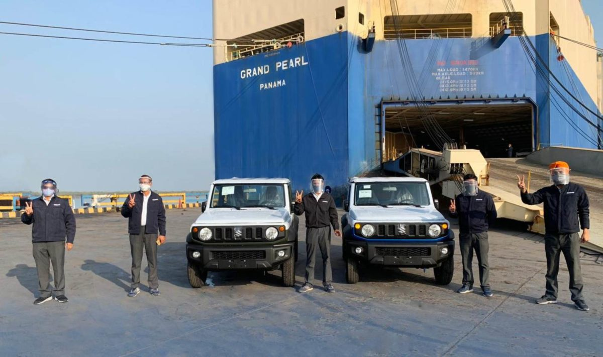 Suzuki Jimny exported from India