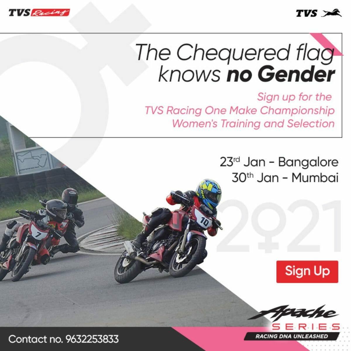 TVS women racing