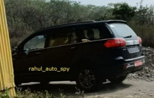 Tata Hexa BS6 rear 3 quarters spyshot