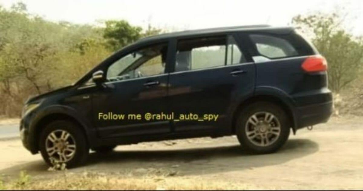 Tata Hexa BS6 side look spyshot
