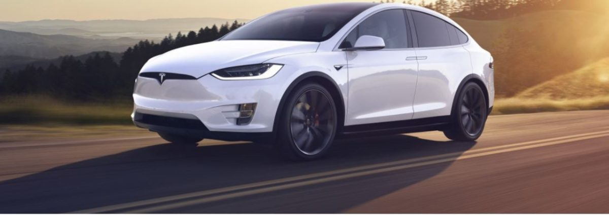 Tesla model X front 3 quarters