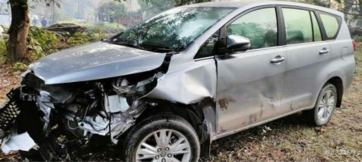Toyota Innova Crysta kills a tiger (1)