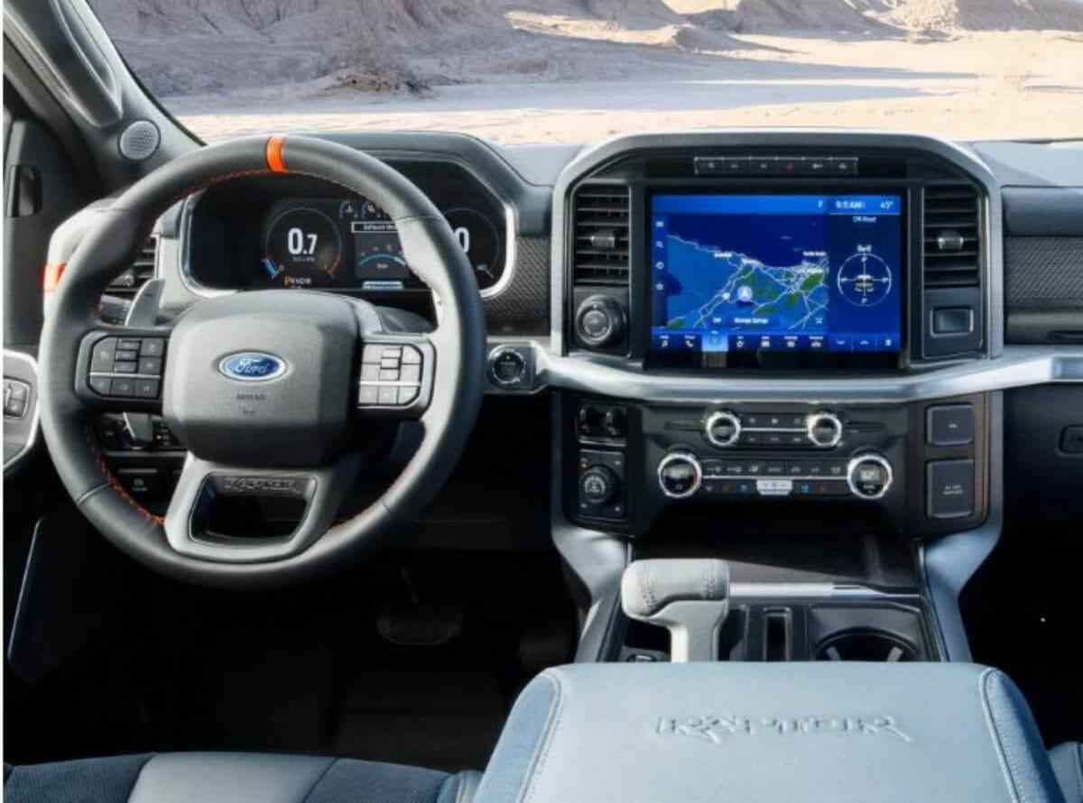 2021 Ford Raptor F 150 interiors