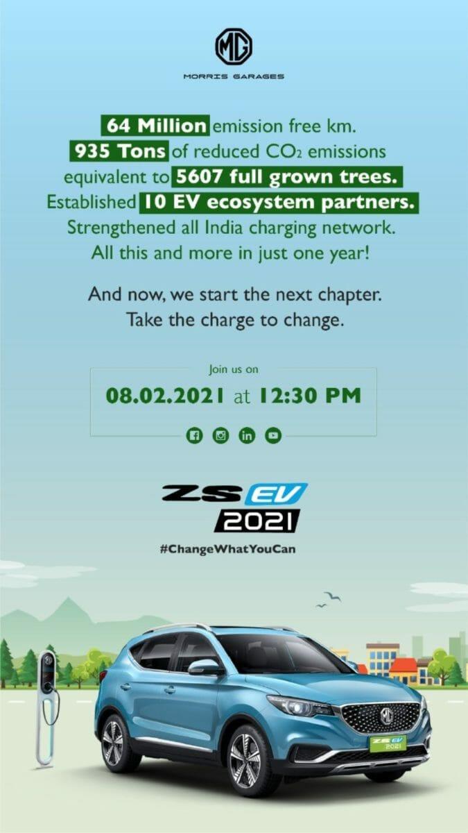 2021 MG ZS EV invite