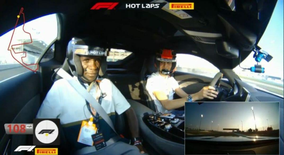 Esteban Ocon & Eluid Kipchoge hot lap
