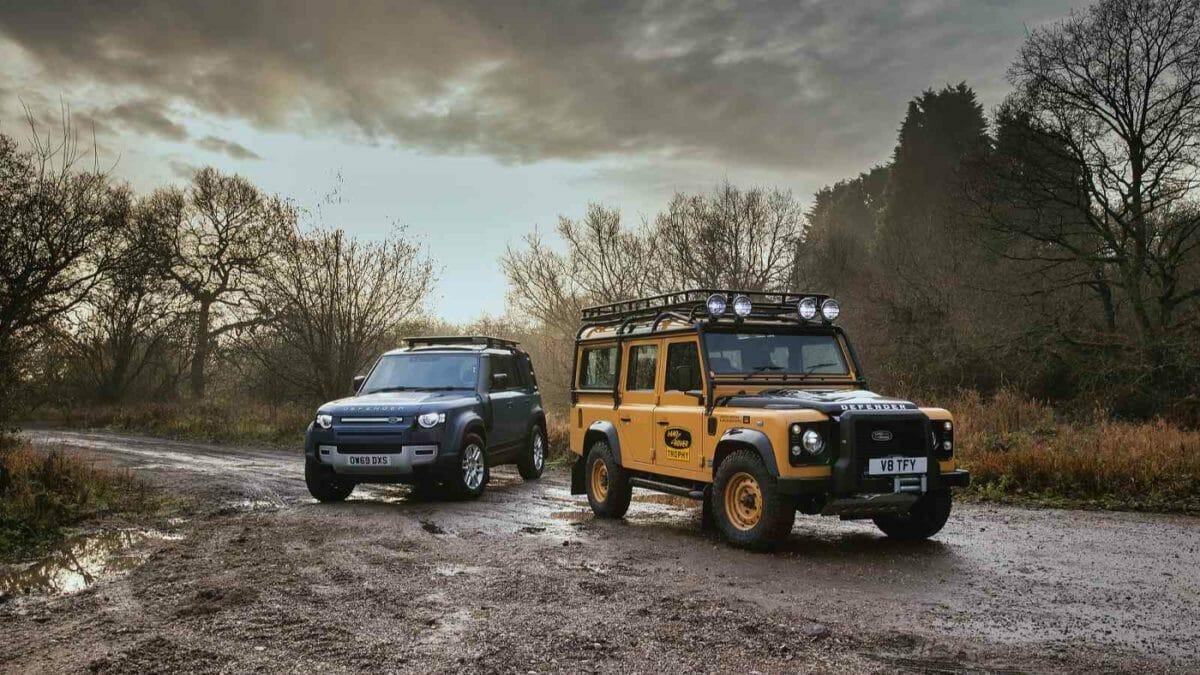 Land Rover Classic_Defender Works V8 Trophy with new Defender