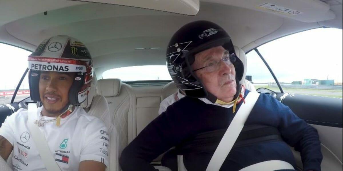 Lewis Hamilton & Frank Williams hot lap