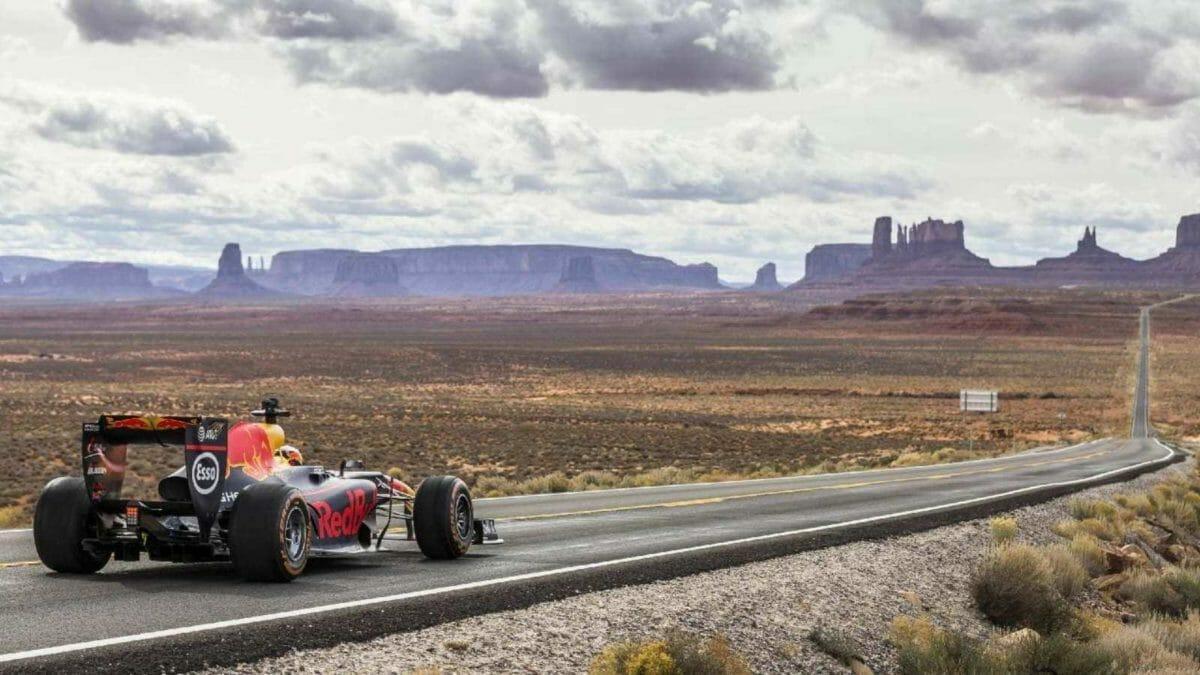 Red Bull F1 Car Death Valley
