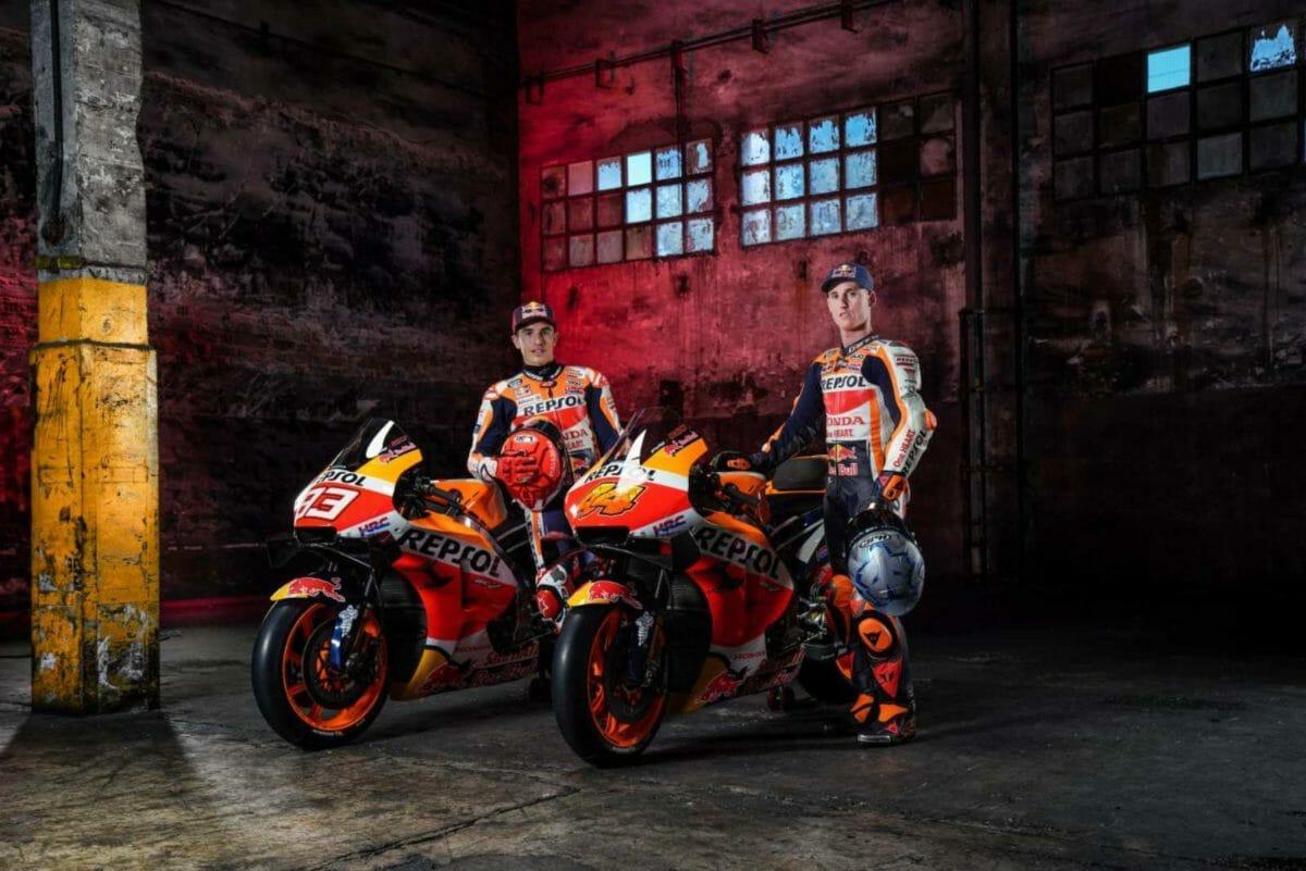 Repsol Honda riders Marc Marquez and Pol Espargaro
