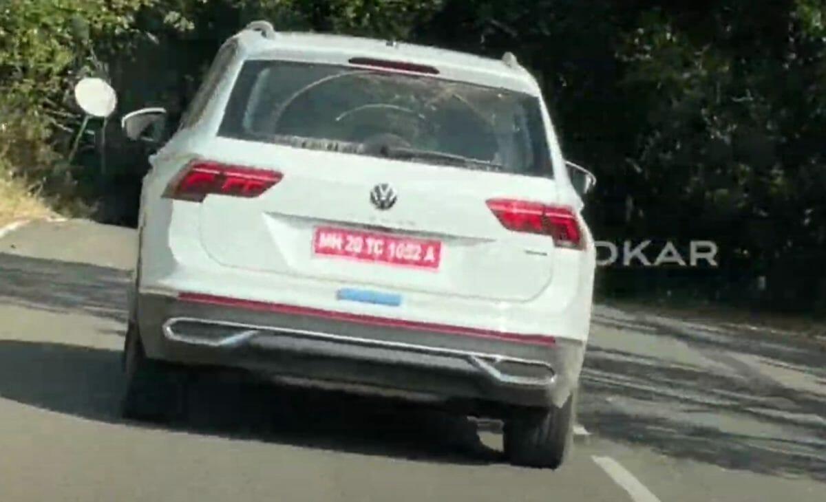 Volkswagen Tiguan facelift spied