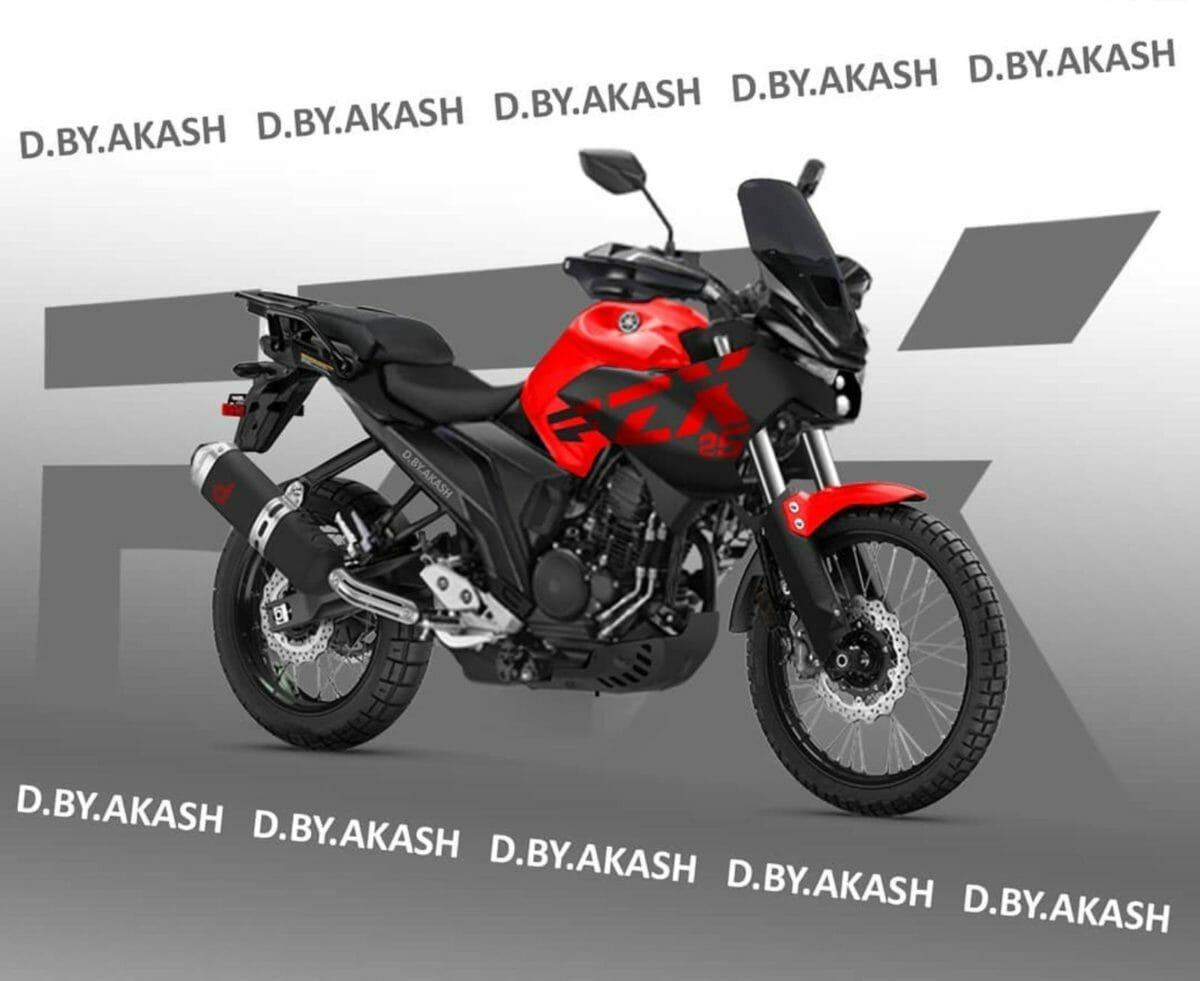 Yamaha FZ X rendered