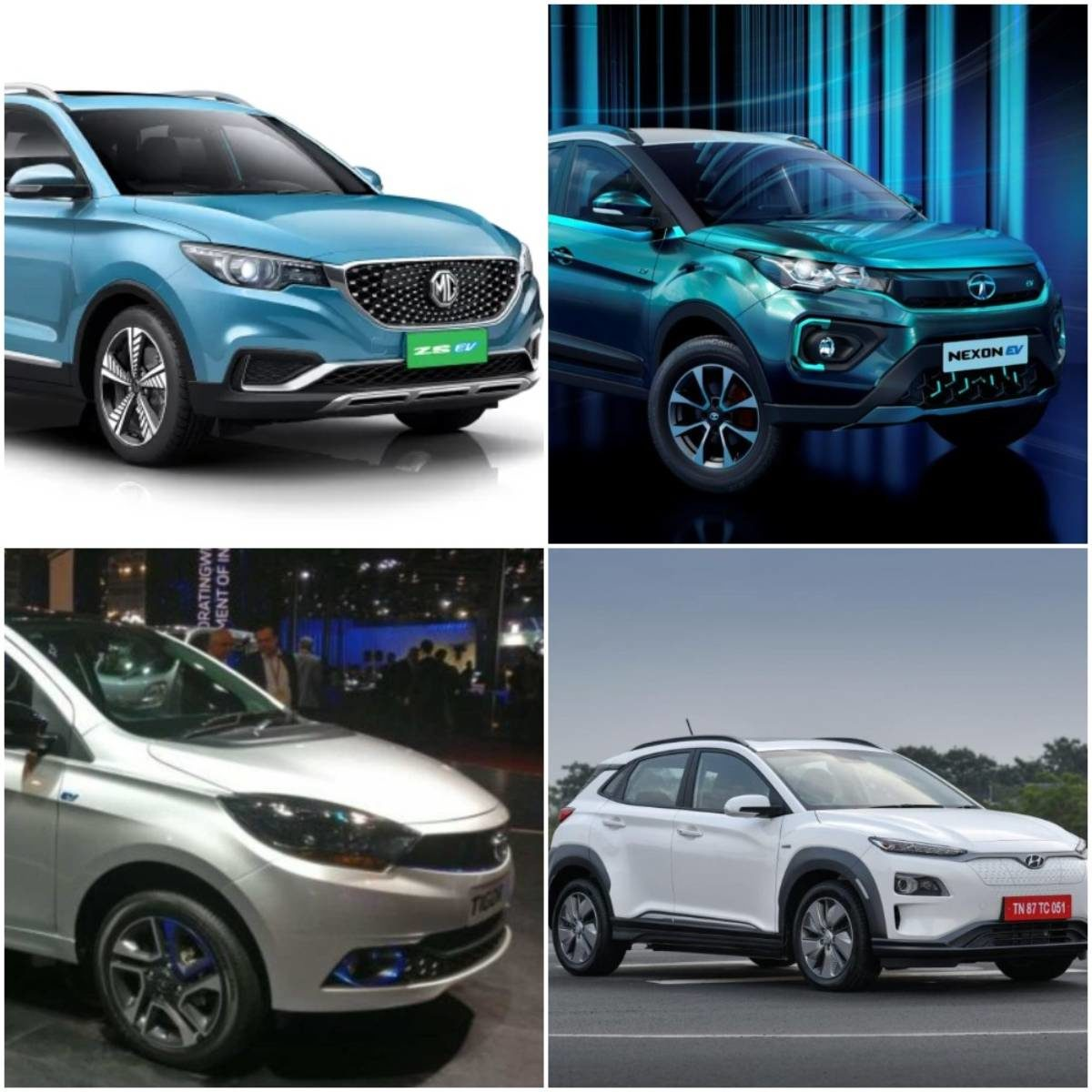 electric cars collage