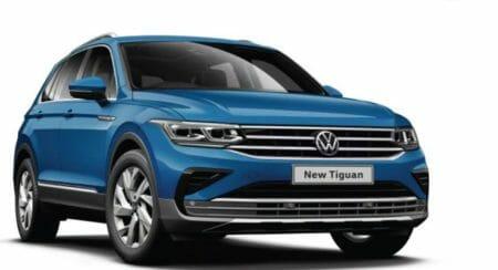 2021 VW Tiguan front 3 quarters