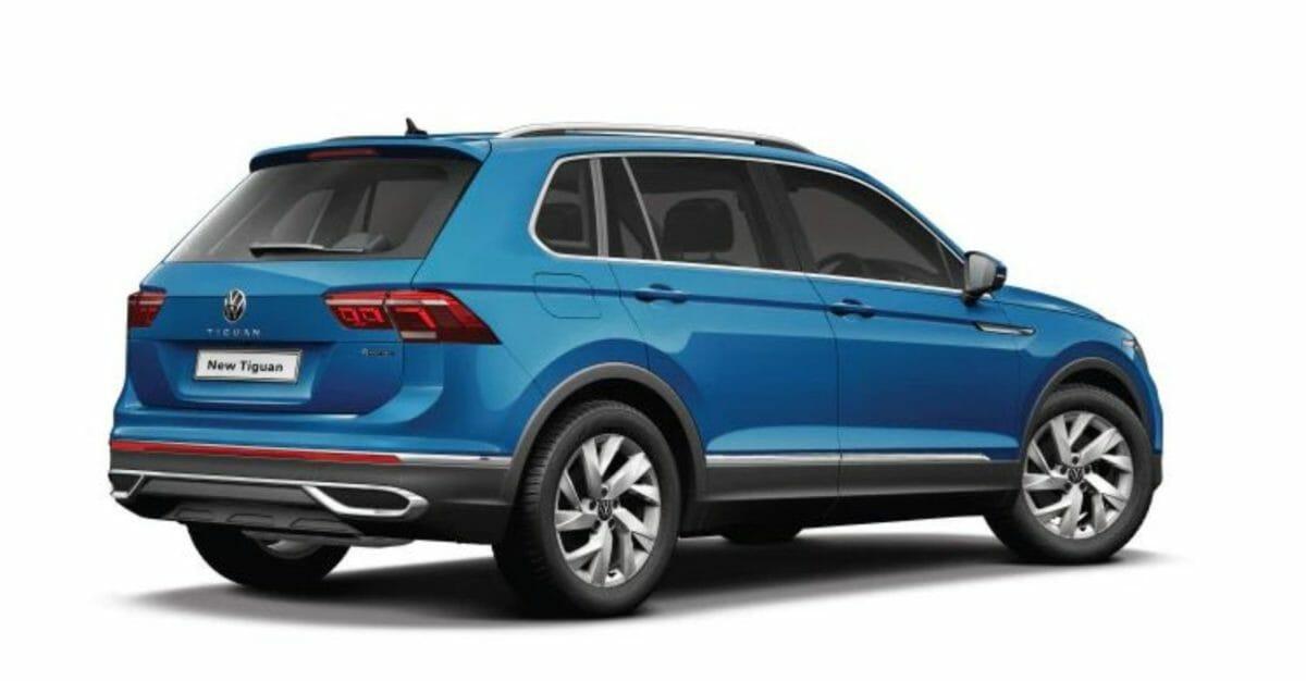 2021 VW Tiguan rear 3 quarters