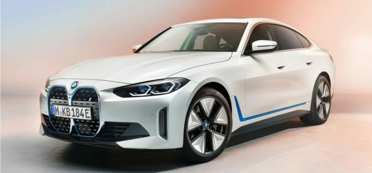 BMW i4 front 3 quarters