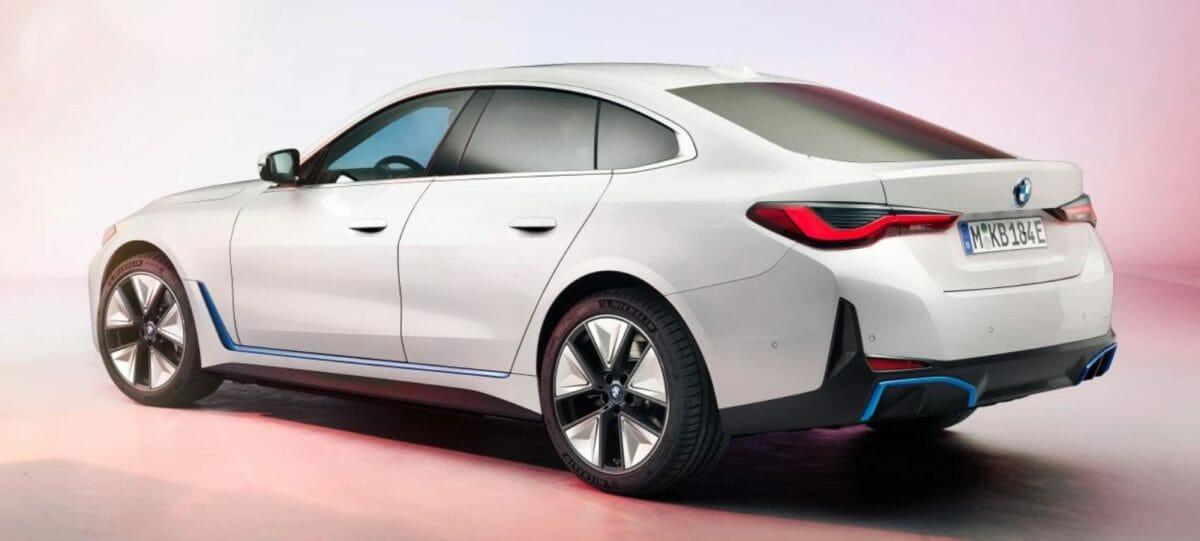 BMW i4 rear 3 quarters