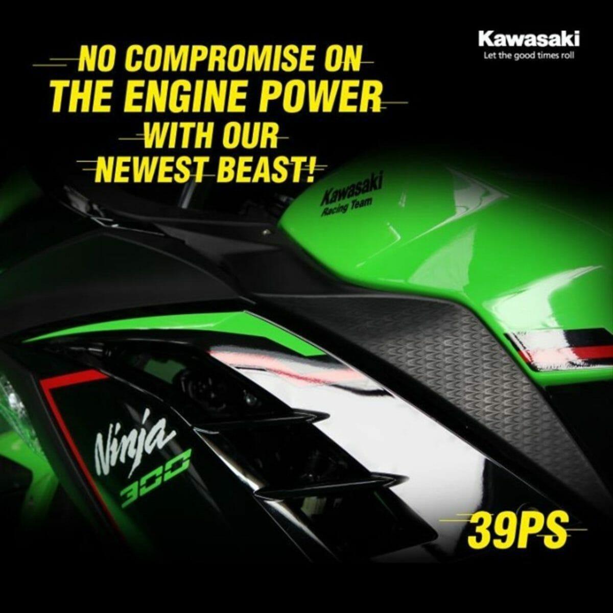BS6 Kawasaki Ninja 300 teased