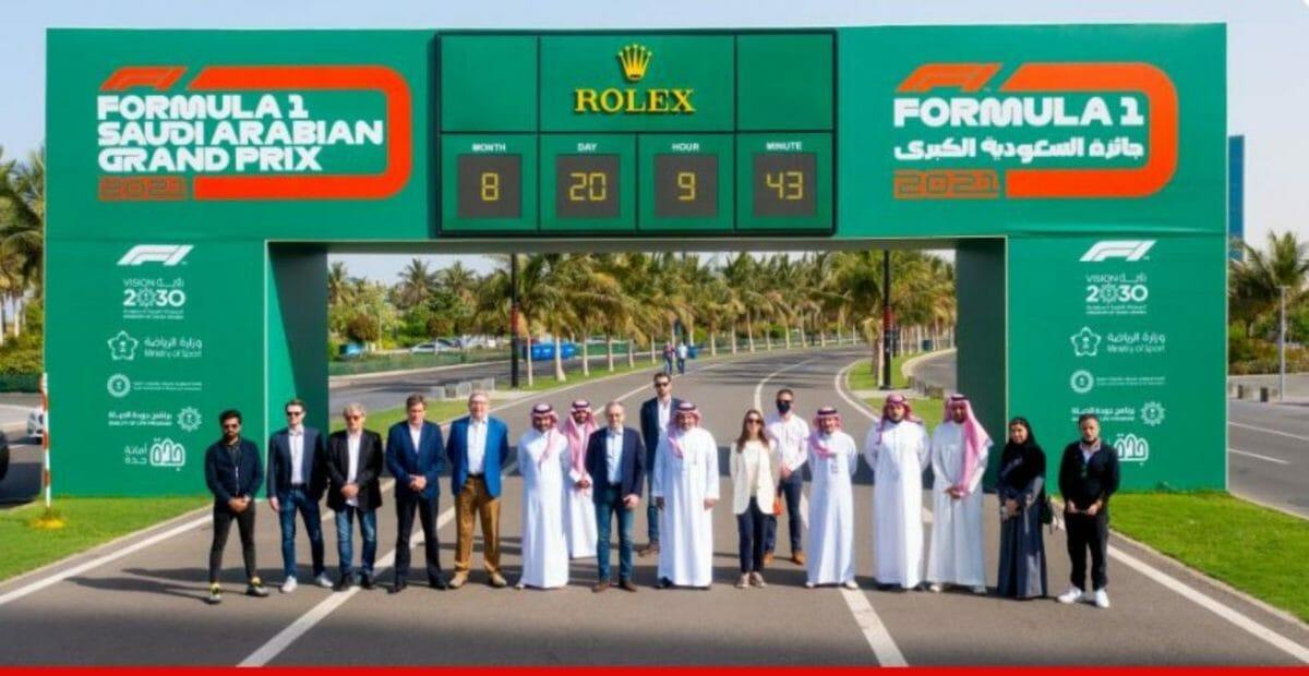Jeddah street circuit for F1
