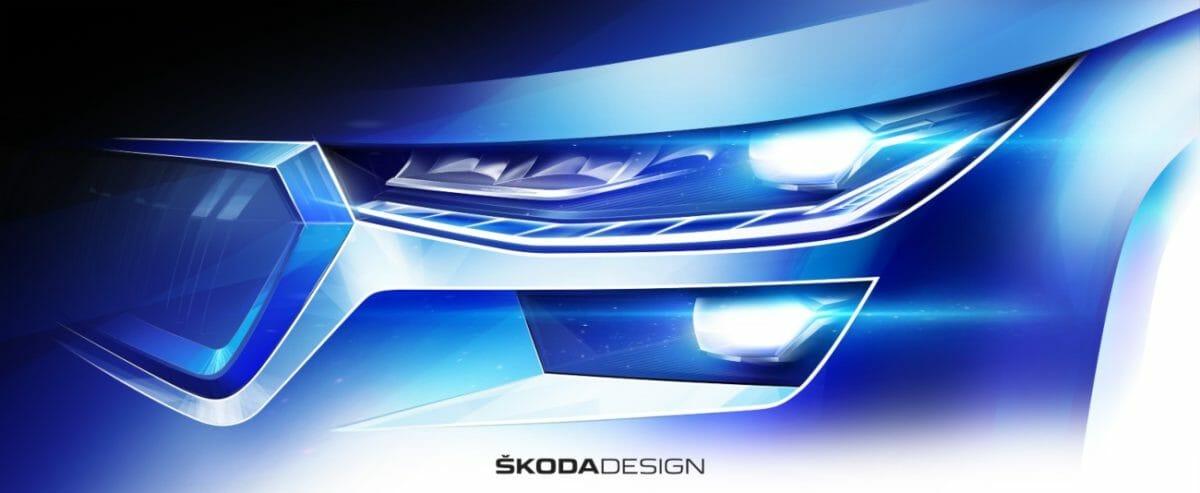 Skoda Kodiaq Facelift sketches (1)
